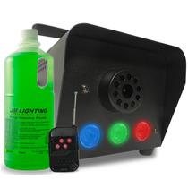 Maquina Fumaça 600w Iluminação Dj Controle Sem Fio + Fluído