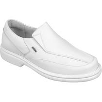 Sapato Antistress Conforto Linha Branco Médico Enfermeiro