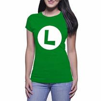 Camiseta Feminina Do Luigi - Verde Bandeira - Baby Look