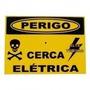 Placa Advertência: Perigo Cerca Elétrica Alumínio