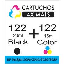 Kit Cartucho Hp 122 Preto E Color Para Hp1000/2000/2050/3050