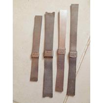4 Pulseiras Malha Aço Bitolas/medidas Diferentes Mido