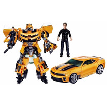 Transformers Carro Robô Bumblebee E Sam Human Alliance Lv3