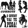 Adesivo Decorativo Country Cowboy Cowgirl Cavalo Gado Nelore