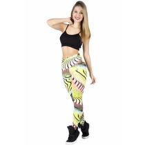 Calça Leg Legging Estampada Academia Fitness Suplex Cós Alto