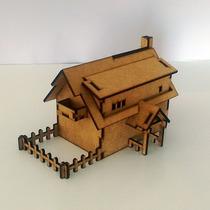Mini Casa De Boneca Rancho Em Mdf
