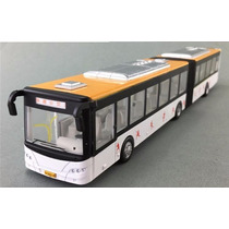 Miniatura Ônibus Articulado Metal Escala 1:50