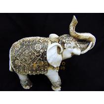 Elefante Decoração Sorte Sabedoria Resina Estatua Prosperi