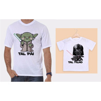 Kit Camisetas Tal Pai, Tal Filho - Star Wars