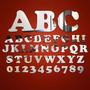 Kit Letras Espelho Acrílico, Espelhado Para Formar Nome