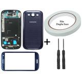Tela Carcaça Aro Cromado Samsung Galaxy S3 I9300 Ferramenta