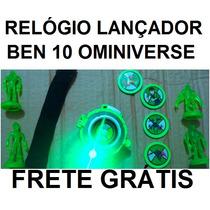 Relógio Lançador Disco Ben 10 Com Luz E Sons Frete Simbólico