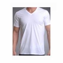 Camisetas 100% Poliéster Gola V Ideal Sublimação Atacado
