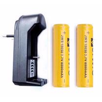 Kit 2 Bateria 18650 Lanterna Tática 8800mah 3.7v +carregador
