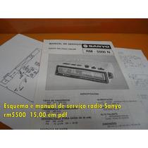 Esquema E Manual De Serviço Sanyo Rm5500n Rm5500 Rm-5500n