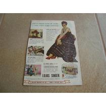 Propaganda Antiga Maquinas De Costura Singer 1953 Elgin 1