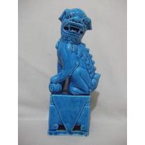 B. Antigo - Estatueta De Cão De Fó Em Porcelana Chinesa