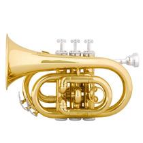 Trompete Pocket Mendini Sib - Estojo (case) De Luxo