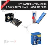 Kit Gamer Intel Core I7 4790k, Asus Z97m-plus/br + 16gb Ddr3