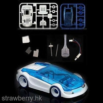 Mini Carro Movido A Agua Com Sal E Solar - Kit De Montagem