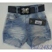 Short Feminino Jeans Oppnus Hot Pants Lycra 2482