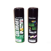 Tinta Spray Efeito Camaleão Kit Completo Amarelo Colorart