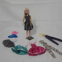 Roupas Para Boneca Barbie Kit Com 4 Peças