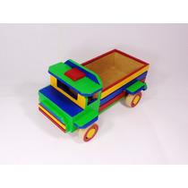 Caminhão Em Madeira Mdf Brinquedo Artesanal.