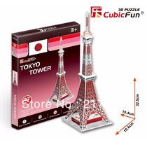 Quebra Cabeça Puzzle 3d Tokyo Tower Presente Hobbie
