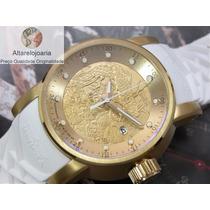 Relógio Invicta Yakuza Automatico Original Pulseira Branca