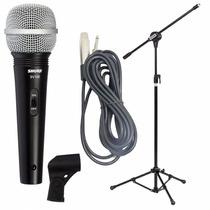 Microfone Shure Profissional + Pedestal + Cabo