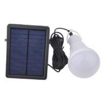 Lampâda De Led Com Painel Solar E Bateria Recarregavel