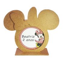 Porta Retrato Mdf Pequeno Minnie Minie Lembrança - Presente