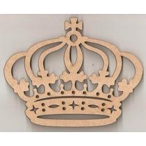 Coroa Aplique Recorte Decoração Mdf Princesa 8x6cm Decoração