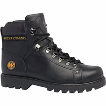 Coturno Bota Worker West Coast Couro Natural +brinde +cores