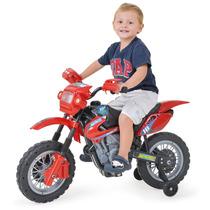 Moto Elétrica Infant Motocross - Vermelha - Homeplay