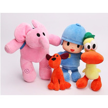 Pocoyo, Kit Com 4 Bonecos Promoção Discovery Kids.