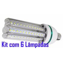 6 Lâmpadas Led 20w E27 Bivolt 110/220v Branca Fria Econômica