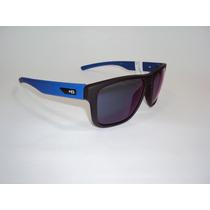 Óculos De Sol Hb H-bomb Preto E Azul Espelhado