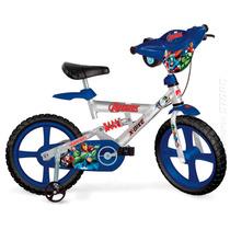 Bicicleta Bike The Avengers Vingadores Aro 14 Bandeirante