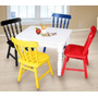 Mesa Colorida Com Cadeiras Infantis