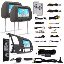 Kit Multimídia New Civic Dvd Gps Tv+ Par Tela Encosto Cabeca