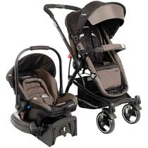 Carrinho, Bebê Conforto E Base Travel System Aspen Capuccino