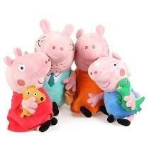 Peppa Pig Família 4 Pelucias Grande A Pronta Entrega