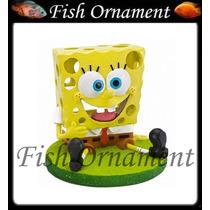 Enfeite Penn Plax Bob Esponja Grande Fish Ornament