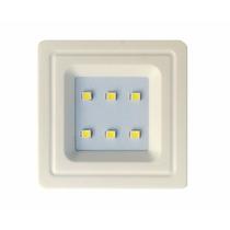 Spot Branco Quadrado Embutir P/ Móveis 6 Leds 0,5w Luminária