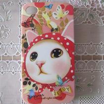 Capinha Case Iphone 4 4s Cartoon Gatinho Gatinha Miau