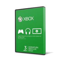 Xbox Live Gold Br Usa Cartão 3 Meses - Envio Imediato