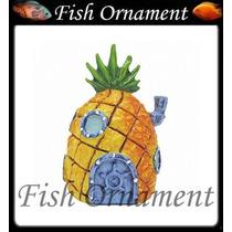 Enfeite Penn Plax Casa Do Bob Esponja Mini Sbr8fish Ornament
