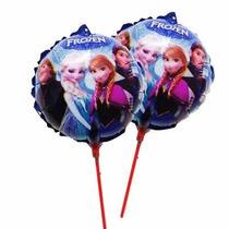 Kit 20 Balão Metalizado Frozen Elsa 21cm Centro Mesa Festa